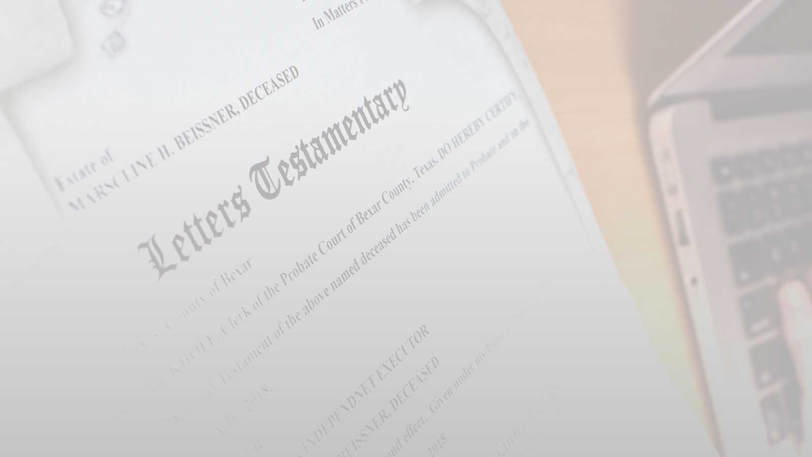 letters of testamentary