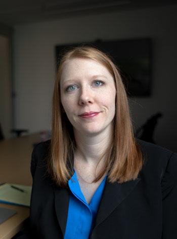 Lawyer Amber Ramsey smiling