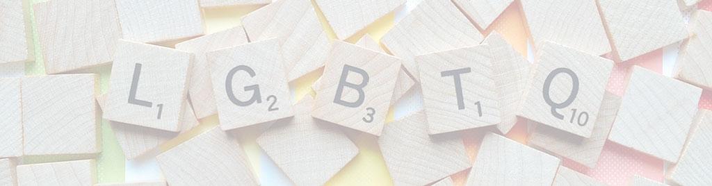 scrabble letters spelling LGBTQ