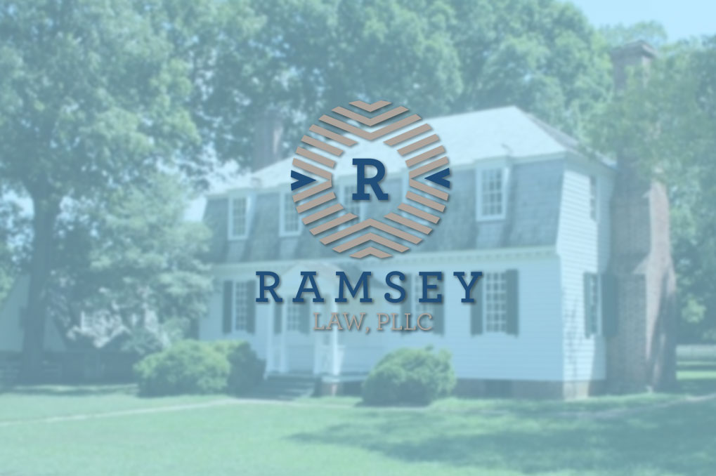 Ramsey Law logo over two story house